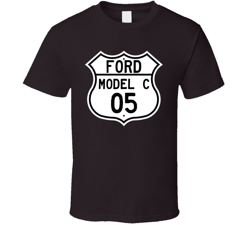 1905 Model C Custom Highway Route Sign T Shirt