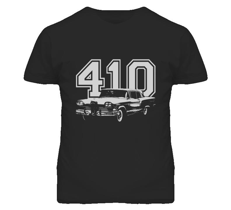1958 Edsel Citation With  Engine Size White Graphic Dark Tee T Shirt