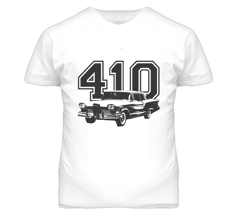 1958 Edsel Citation With Engine Size Dark Graphic Light Tee T Shirt
