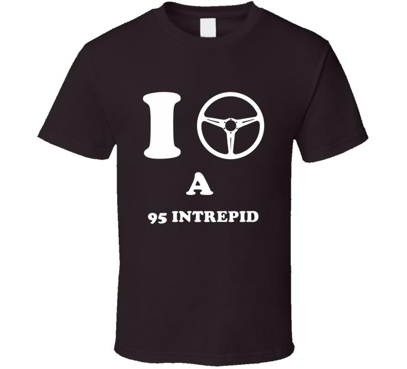 I Drive A 1995 Dodge Intrepid I Heart NY Parody T Shirt