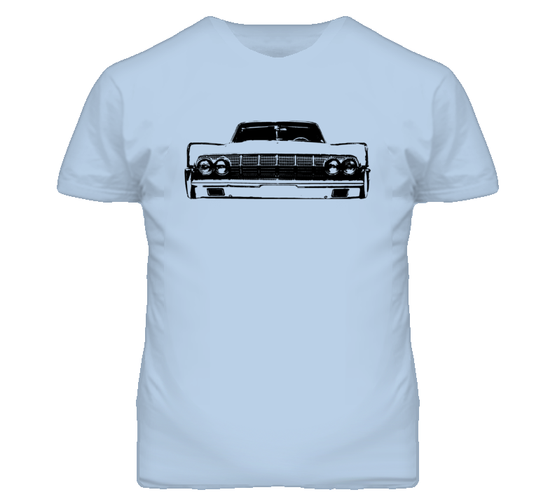 1964 Lincoln Continental Grill View Faded Look T Shirt