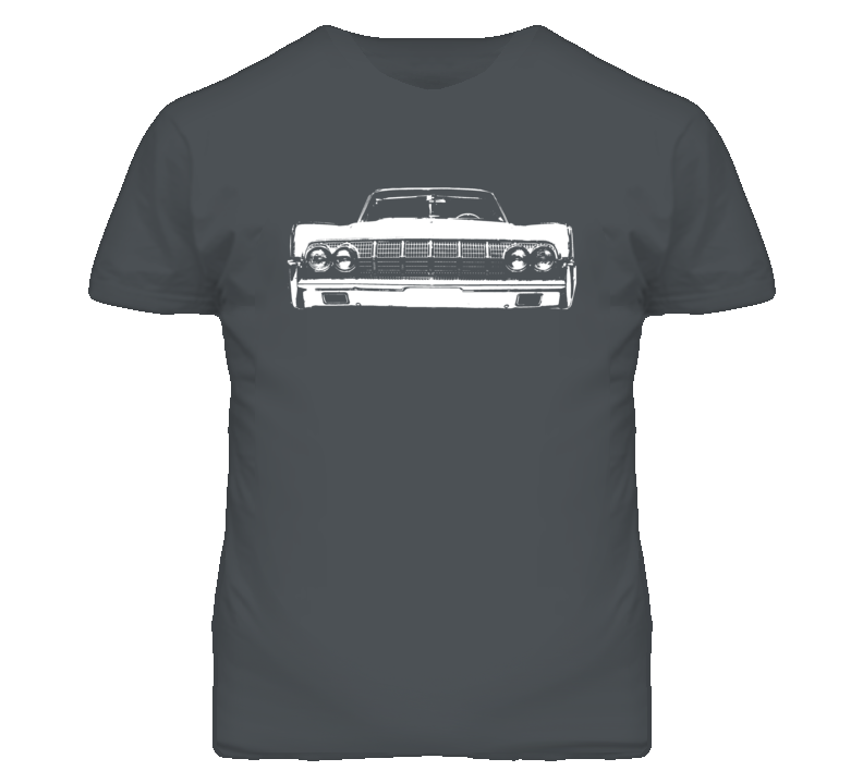 1964 Lincoln Continental Grill View Faded Look Dark T Shirt