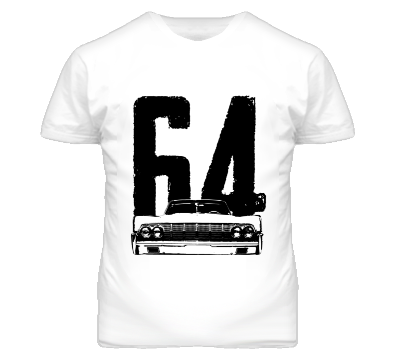 1964 Lincoln Continental Grill View With Year T Shirt