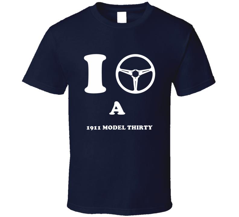 I Drive A 1911 Cadillac Model Thirty Steering Whel T Shirt