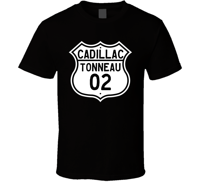 1902 Cadillac Tonneau Highway Route Sign T Shirt