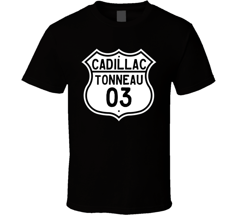 1903 Cadillac Tonneau Highway Route Sign T Shirt