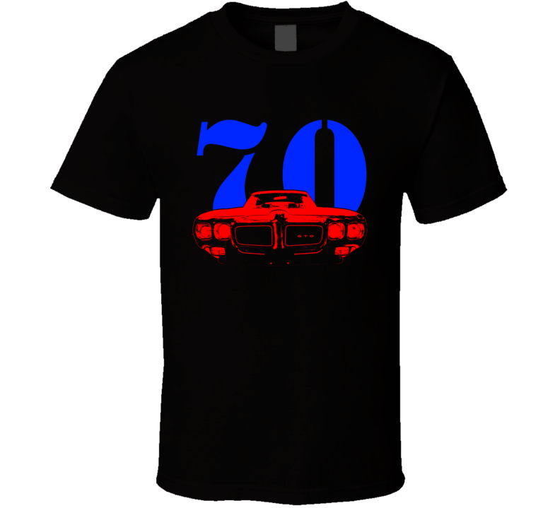 Custom 1970 PontiacGTO Judge Grill  Blue And Red Graphic Year T Shirt
