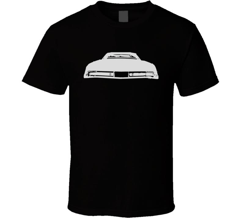 1967 Buick Riviera Rear Custom Silver Graphic T Shirt