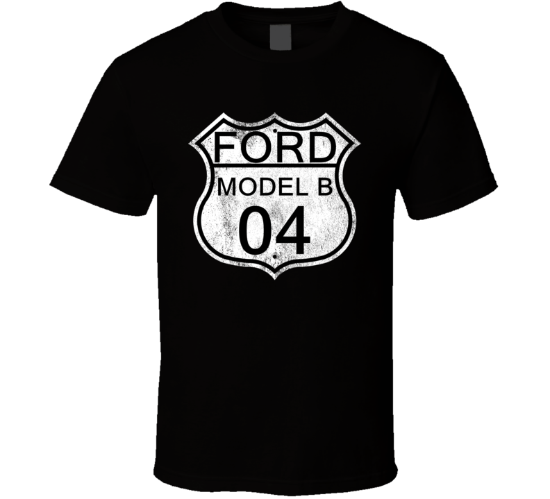 Highway Route Sign 1904 Model B Distressed T Shirt
