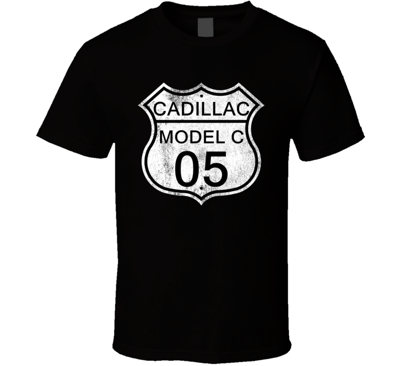 Highway Route Sign 1905 Cadillac Model C Distressed T Shirt