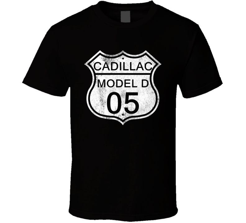 Highway Route Sign 1905 Cadillac Model D Distressed T Shirt