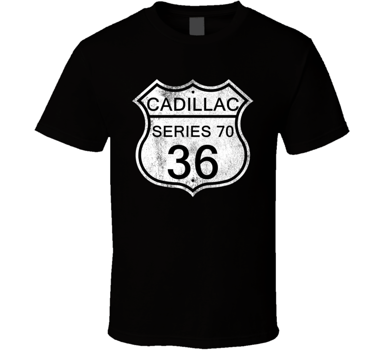 Highway Route Sign 1936 Cadillac Series 70 Distressed T Shirt