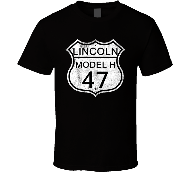 Highway Route Sign 1947 Lincoln Model H Distressed T Shirt