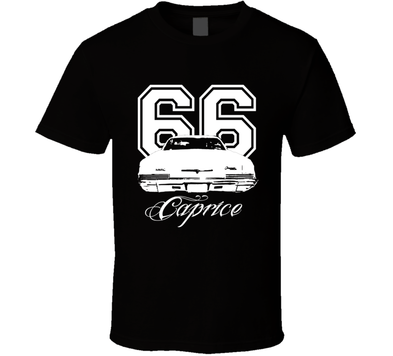 1966 Chevy Caprice Rear View Year Model Name Dark Shirt