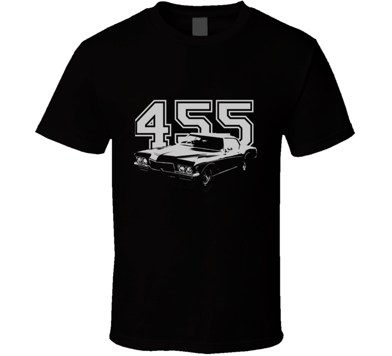 1972 Buick Riviera With Engine Size Dark Color Shirt