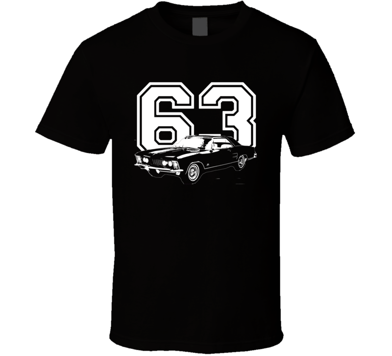 1963 Buick Riviera Side View Year Dark Color Shirt