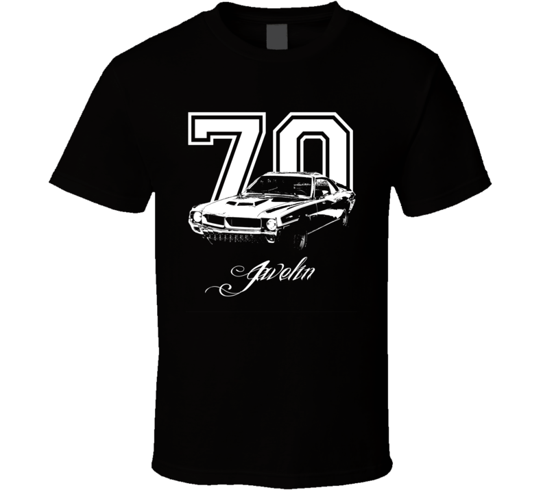 1970 Amc Javelin Year Model Dark Color Shirt