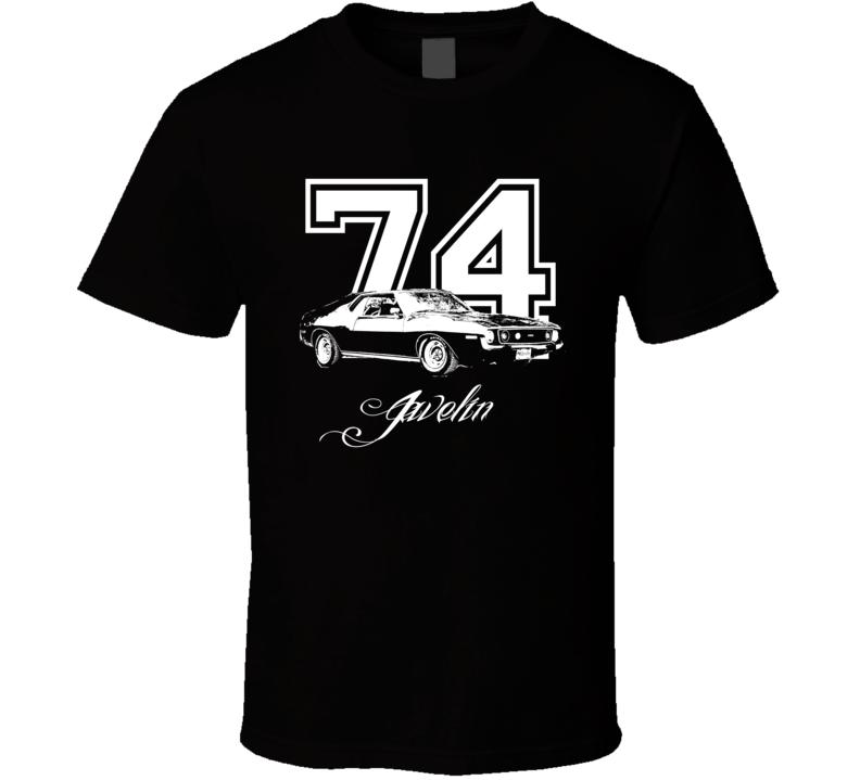1974 AMC Javelin Side Year Model Dark Color Shirt