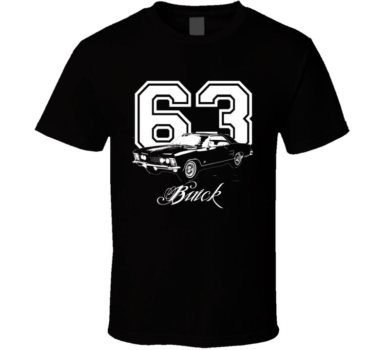 1963 Buick Riviera Side Year Model Dark Color Shirt