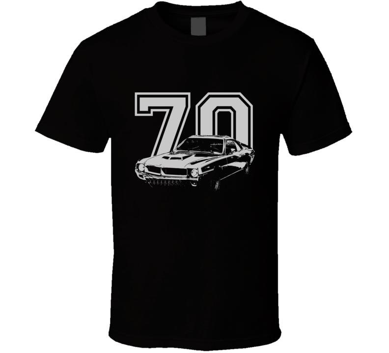 1970 AMC Javelin Grill Year Dark Color Shirt