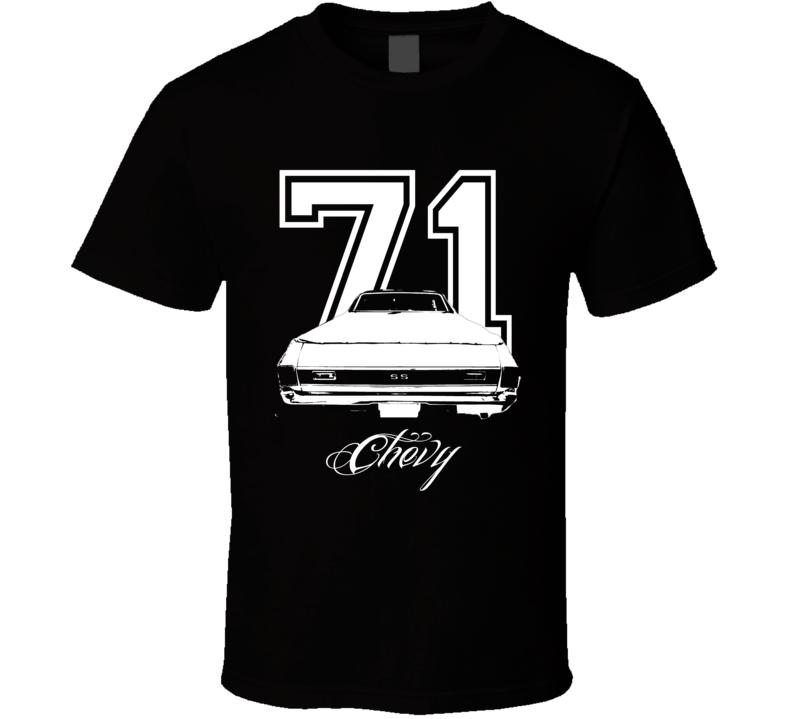 1971 Chevrolet El Camino Rear Year Model Dark Color Shirt