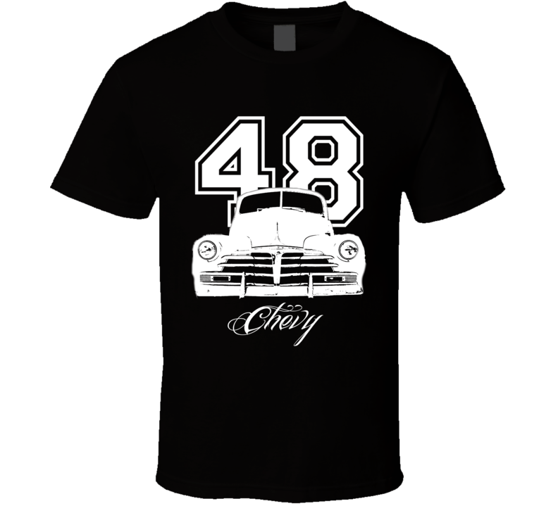 1948 Chevy Coupe Grill Year Model Dark Color Shirt