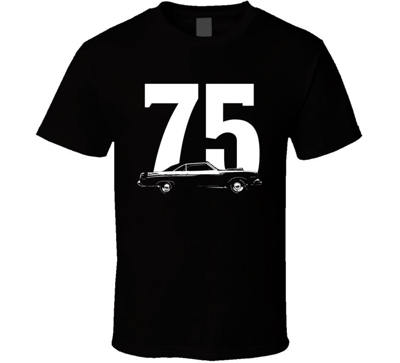 1975 Dodge Dart Side View Year Dark Color Shirt