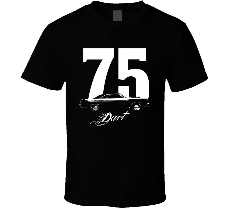 1975 Dodge Dart Side View Year Model Dark Color Shirt