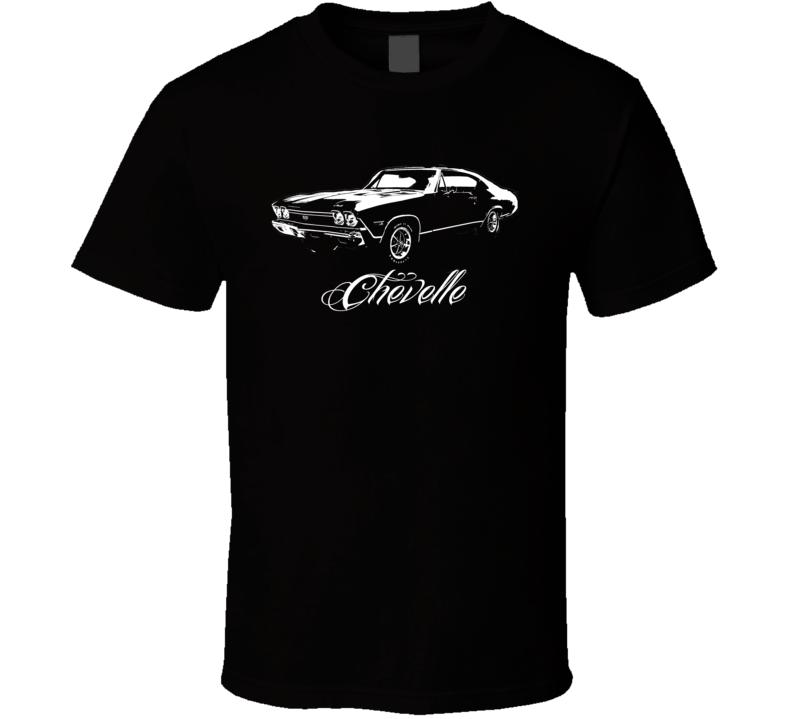 1968 Chevelle Side View Model Dark Color Shirt