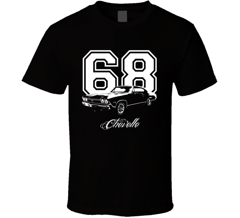 1968 Chevelle Side View Year Model Dark Color Shirt