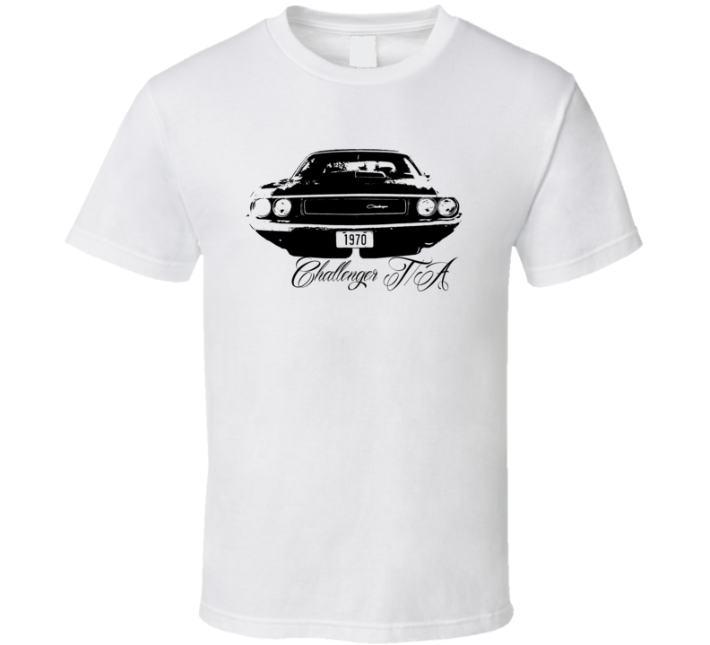 1970 Challenger TA Grill View With Model Name White T Shirt