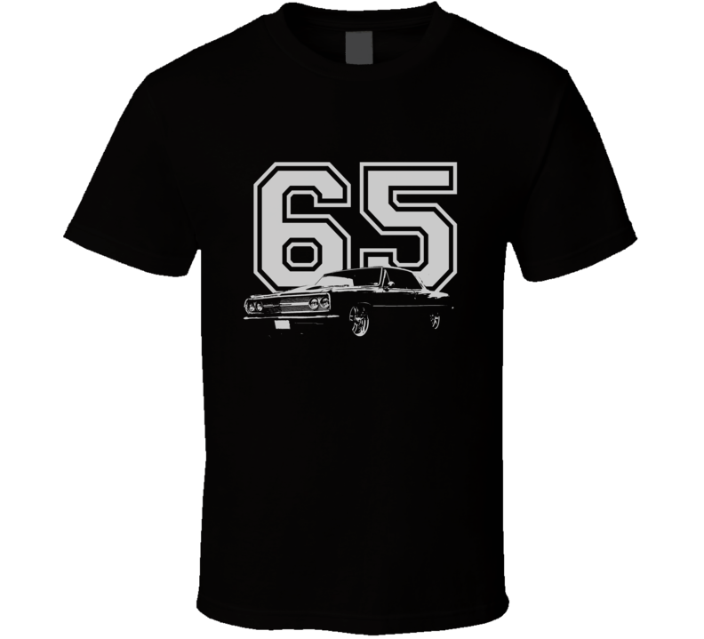 1965 CHEVELLE Side White Graphic Year T Shirt