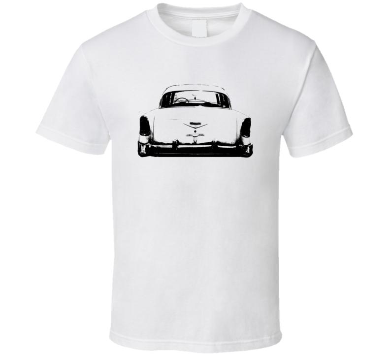 1956 Bel Air Rear View Black Graphic  T Shirt