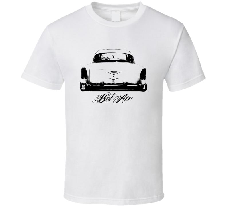1956 Bel Air Rear View Model Black Graphic T Shirt
