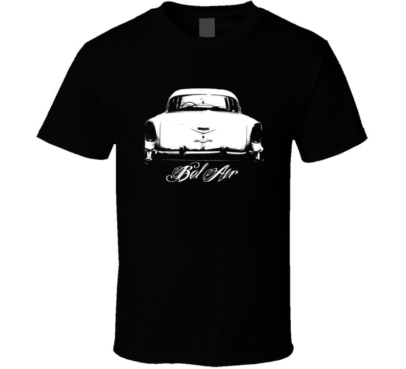 1956 Bel Air Rear View Model Dark Color Shirt