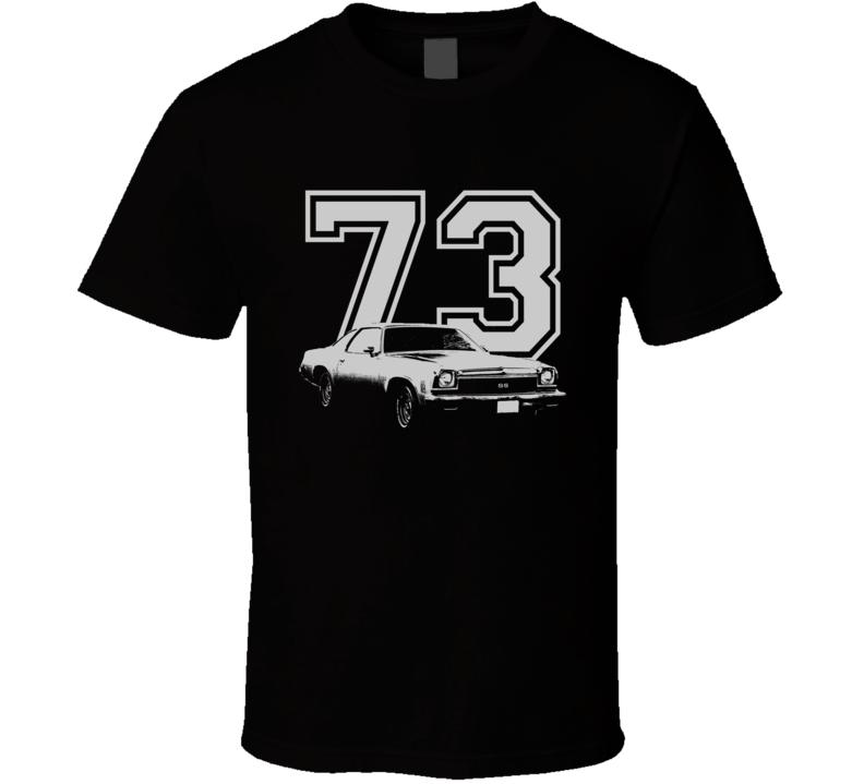 1973 Chevelle Side White Graphic Year T Shirt