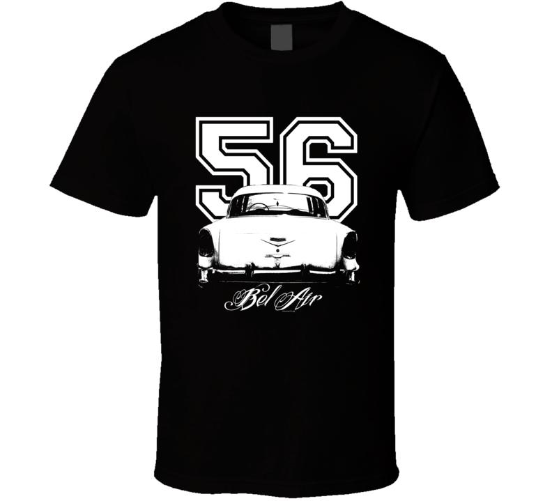 1956 Bel Air Rear Year Model Dark Color Shirt