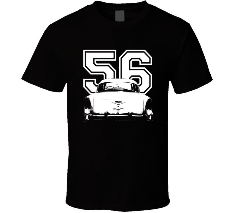 1956 Bel Air Rear View Year Dark Color Shirt
