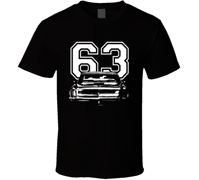 1963 Buick Riviera Grill Year White Graphic  T Shirt