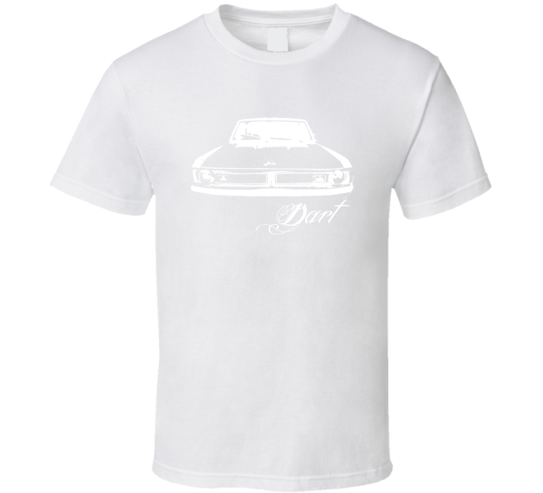 1971 Dodge Dart Grill View Model White Graphic T Shirt