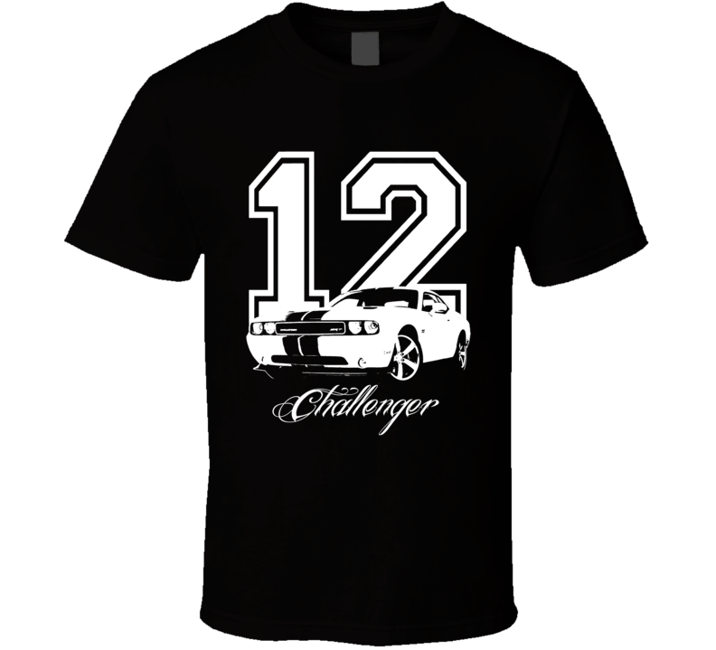 2012 Challenger SRT Grill View Year Model Dark Color Shirt