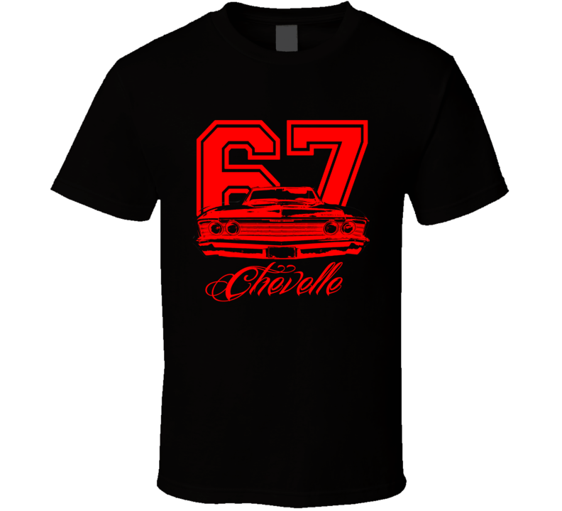 1967 Chevelle Grill View Year Model Red Graphic T Shirt