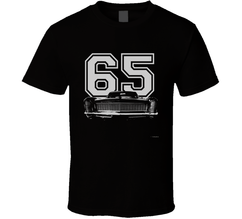 1965 BUICK RIVIERA Grill White Graphic Year T Shirt