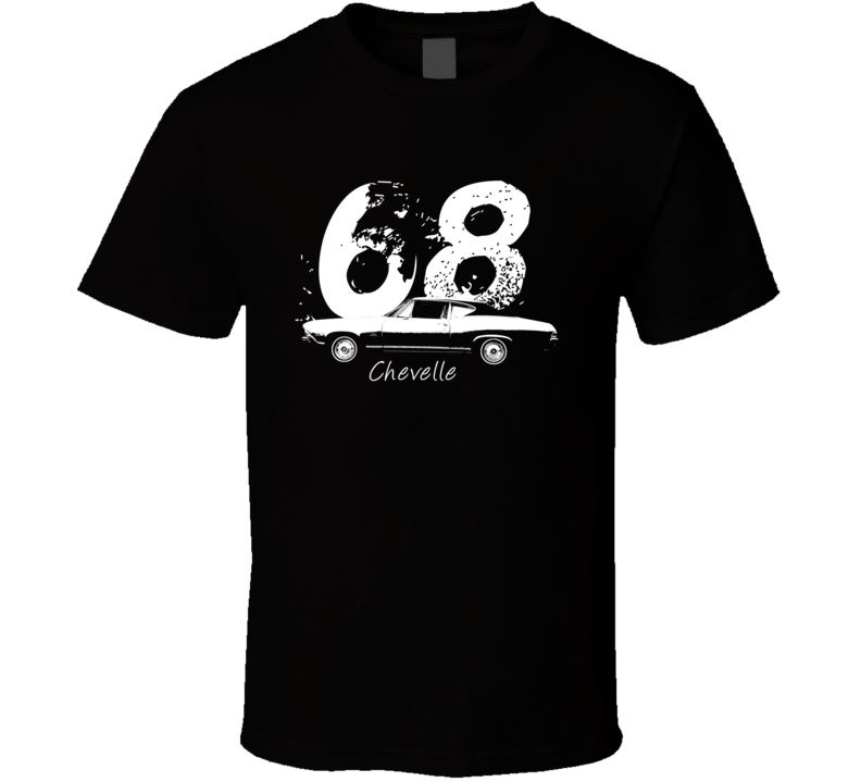 1968 Chevelle Side Year Model Dark Color T Shirt