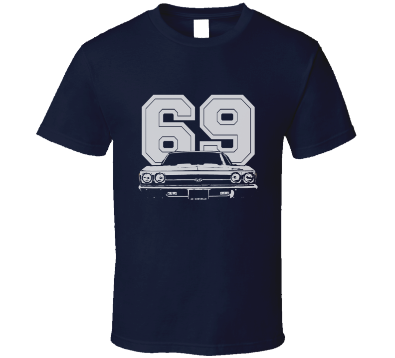 1969 CHEVELLE Grill White Graphic Year T Shirt