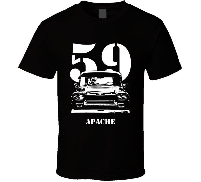 1959 Apache Grill View With Year and Model Dark Shirt