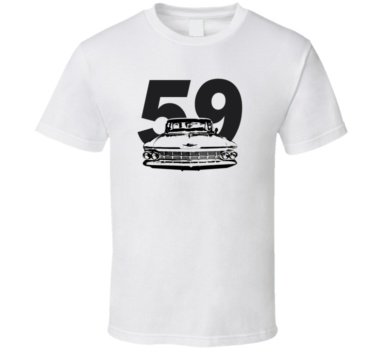 1959 Bsicayne Grill View With Year Light Color T Shirt