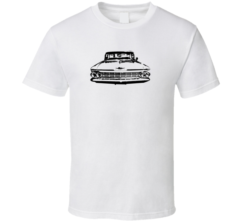1959 Bsicayne Grill View Light Color T Shirt