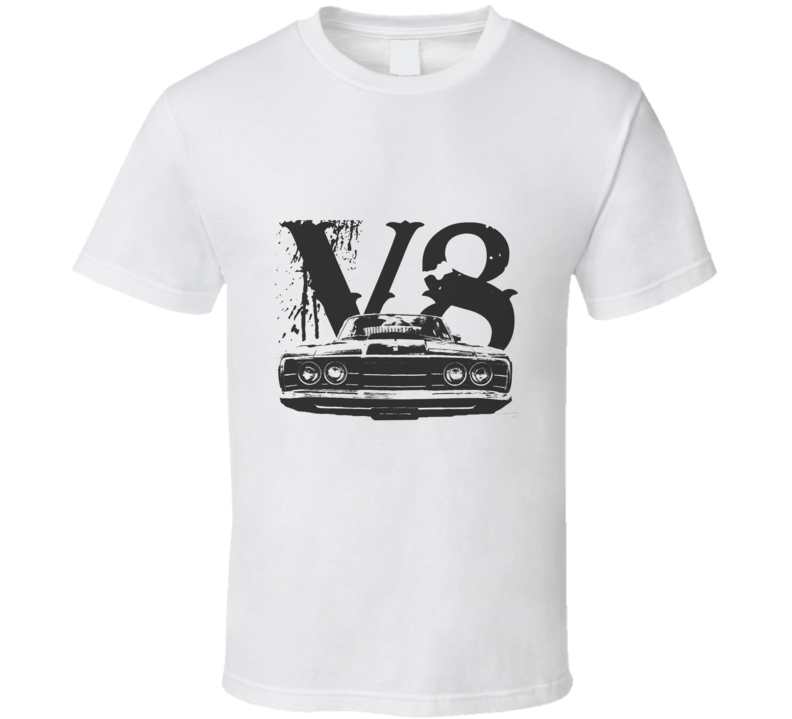1968 MERCURY CYCLONE Grill Black Graphic V8 T Shirt