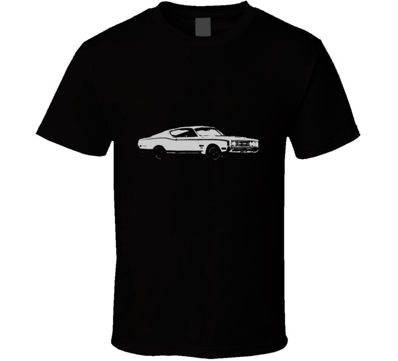 1969 MERCURY CYCLONE Side White Graphic T Shirt